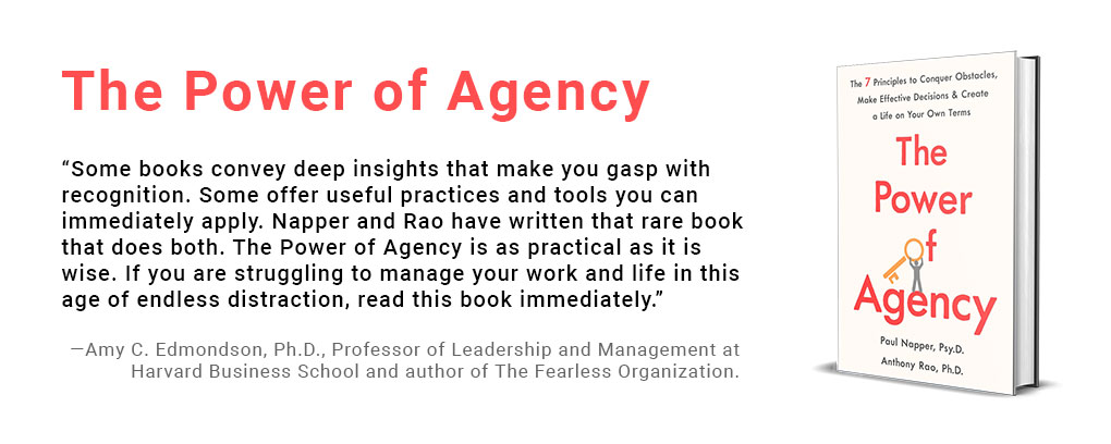 The Power of Agency, a new book by Paul Napper and Anthony Rao